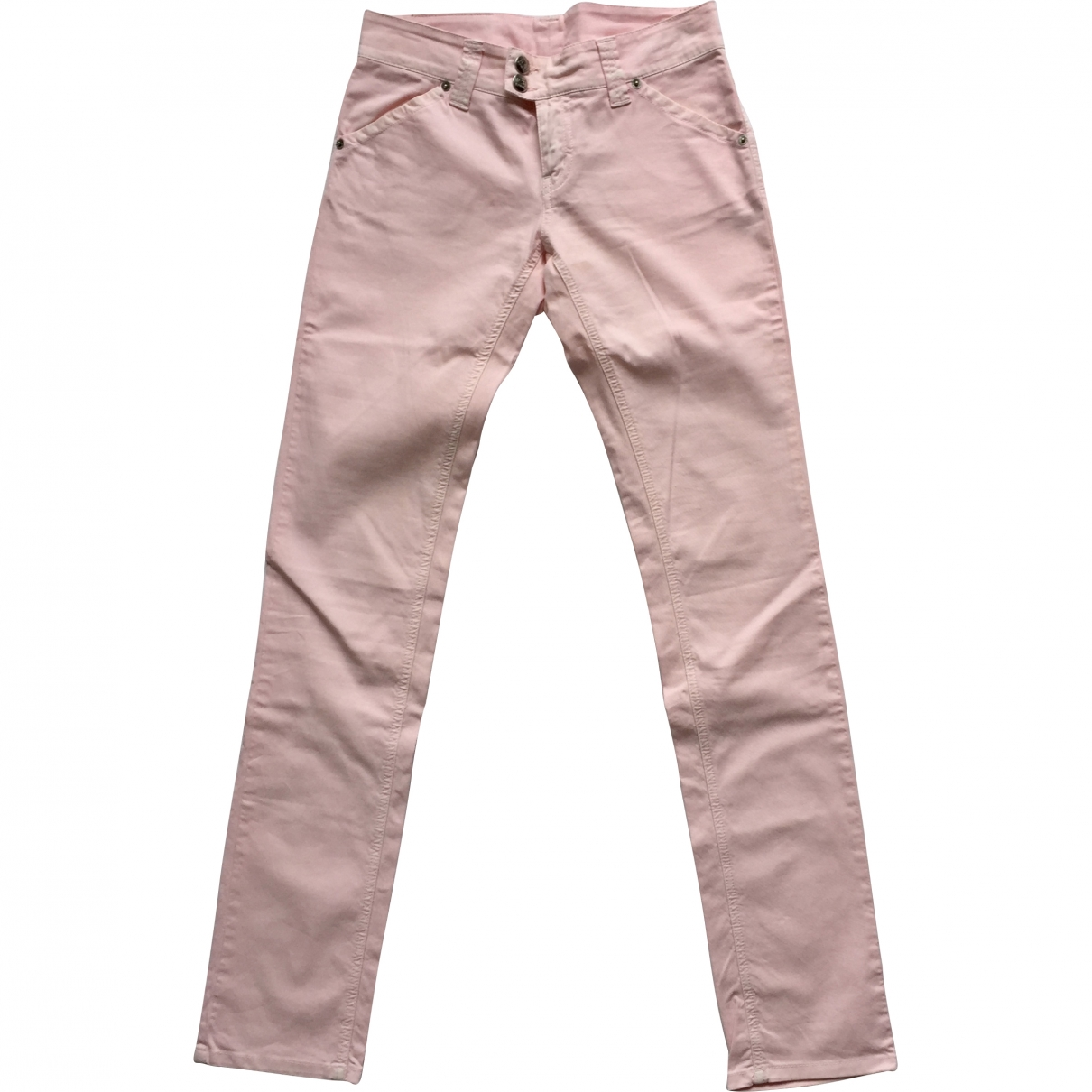 Iceberg \N Pink Cotton - elasthane Jeans for Women 27 US