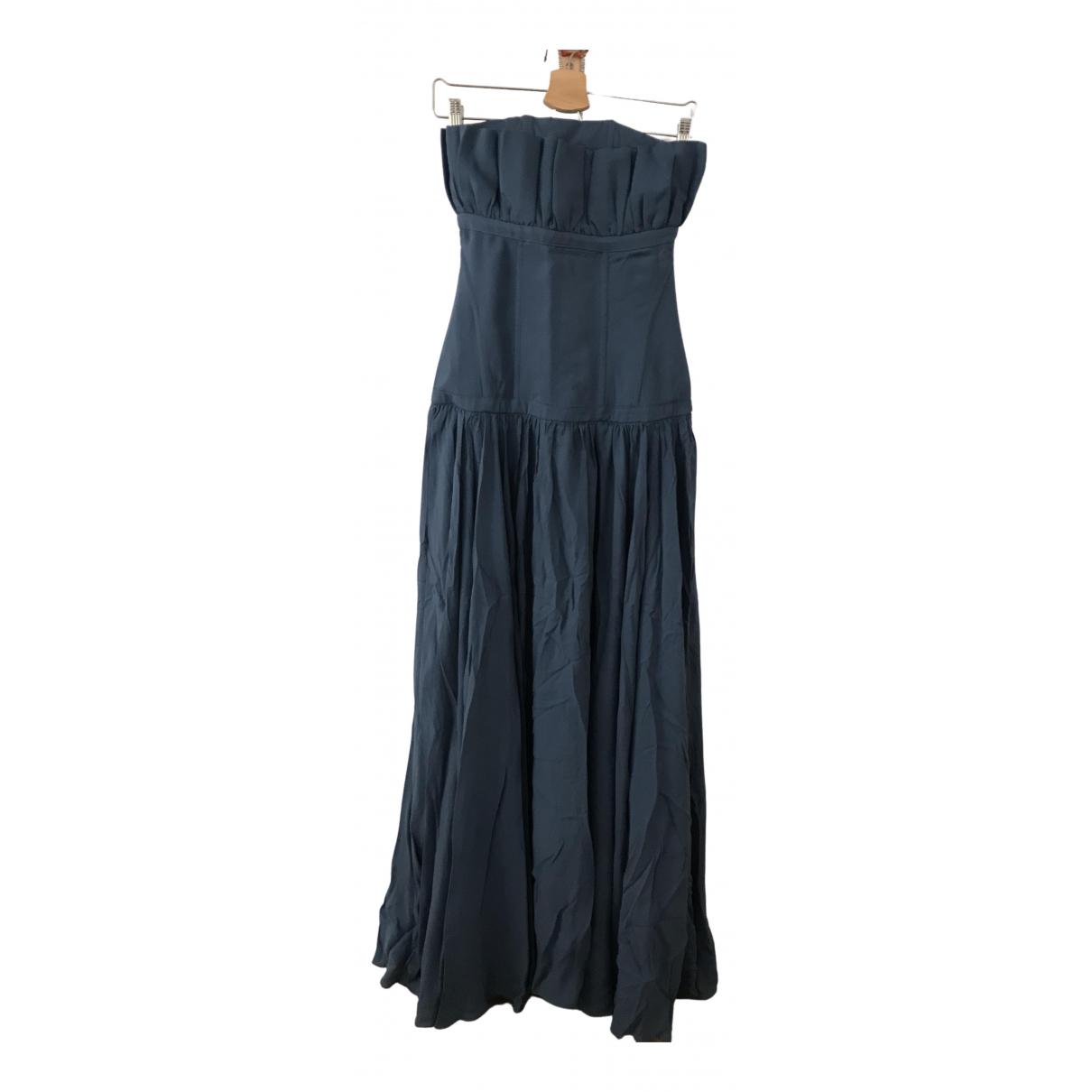Versace \N Kleid in  Blau Synthetik
