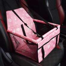 1 Stueck Autositz Hundetraegerkorb mit Kontrast Netzstoff