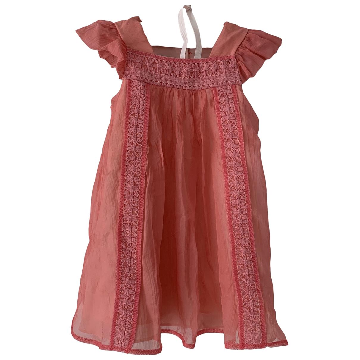 Baby Dior - Robe    pour enfant en soie - rose