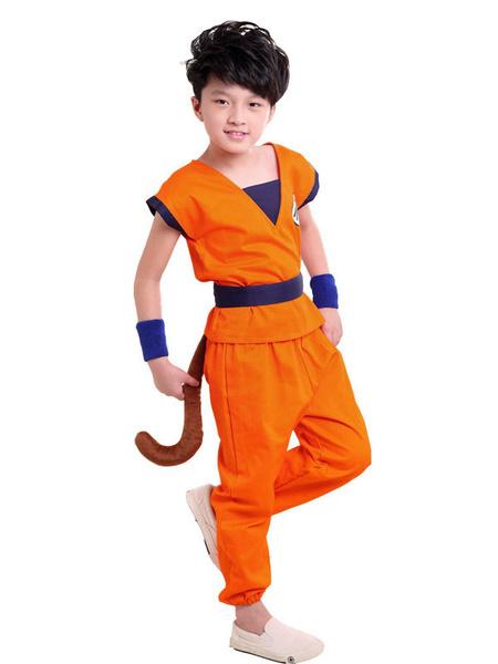 Milanoo Disfraz de niños Halloween Halloween Disfraz de Niños 2020 Dragon Ball Son Goku Disfraz Traje Disfraz Carnaval Disfraz Halloween