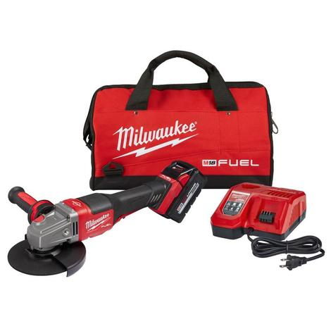Milwaukee M18™ Fuel™ 4-1/2 in.-6 in. No Lock Braking Grinder with Paddle Switch Kit