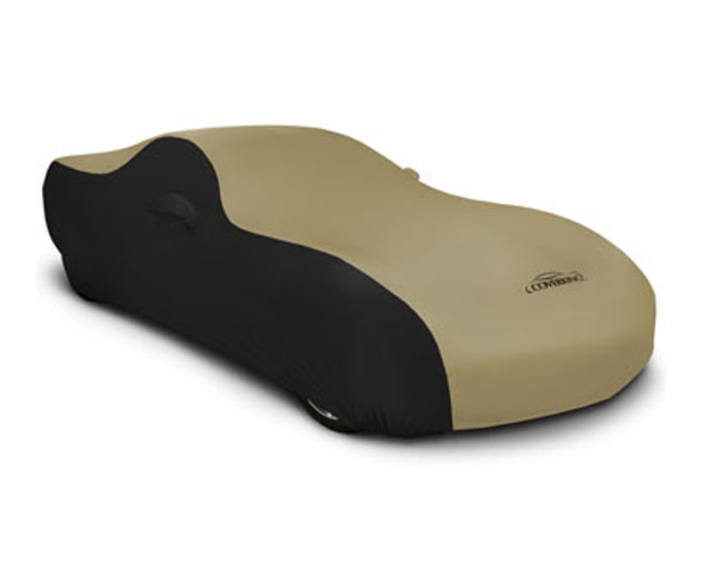 Coverking CVC3SS296FD9918 CVC3SS296 Satin Stretch 2-Tone Black Sides Tan Center Custom Car Cover Ford Mustang 15-17