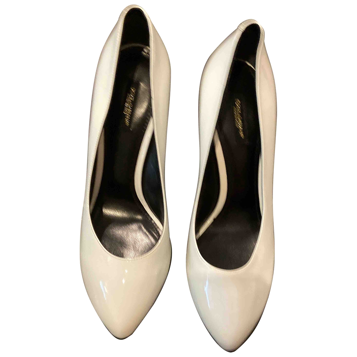 Dolce & Gabbana \N White Patent leather Heels for Women 40 EU