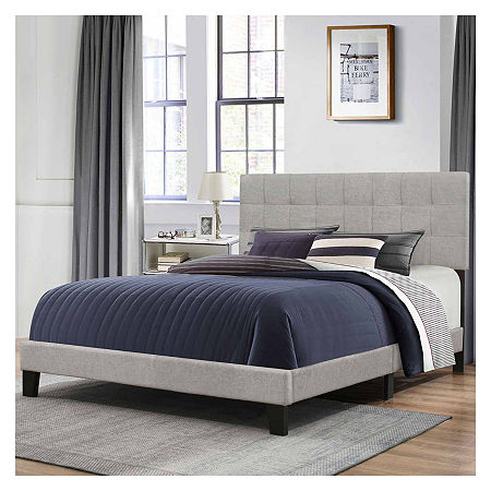 Bedroom Possibilities Daniella Upholstered Bed, One Size , Gray