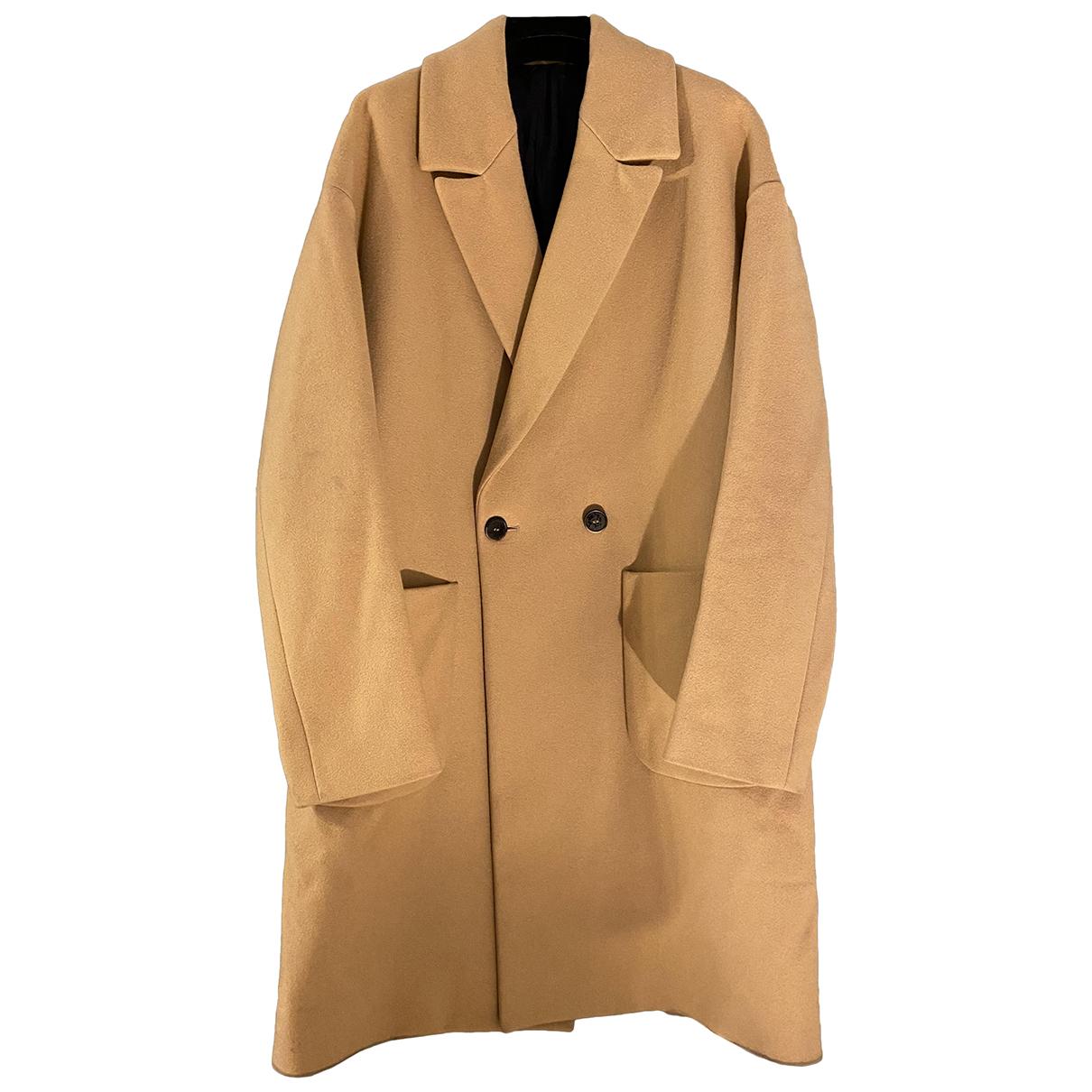 Msgm - Manteau   pour homme en laine - beige