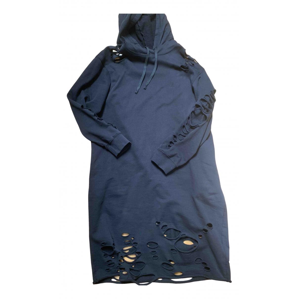 Diesel - Robe   pour femme en coton - noir