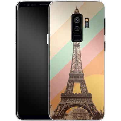 Samsung Galaxy S9 Plus Silikon Handyhuelle - Eiffel Tower Rainbow von Florent Bodart