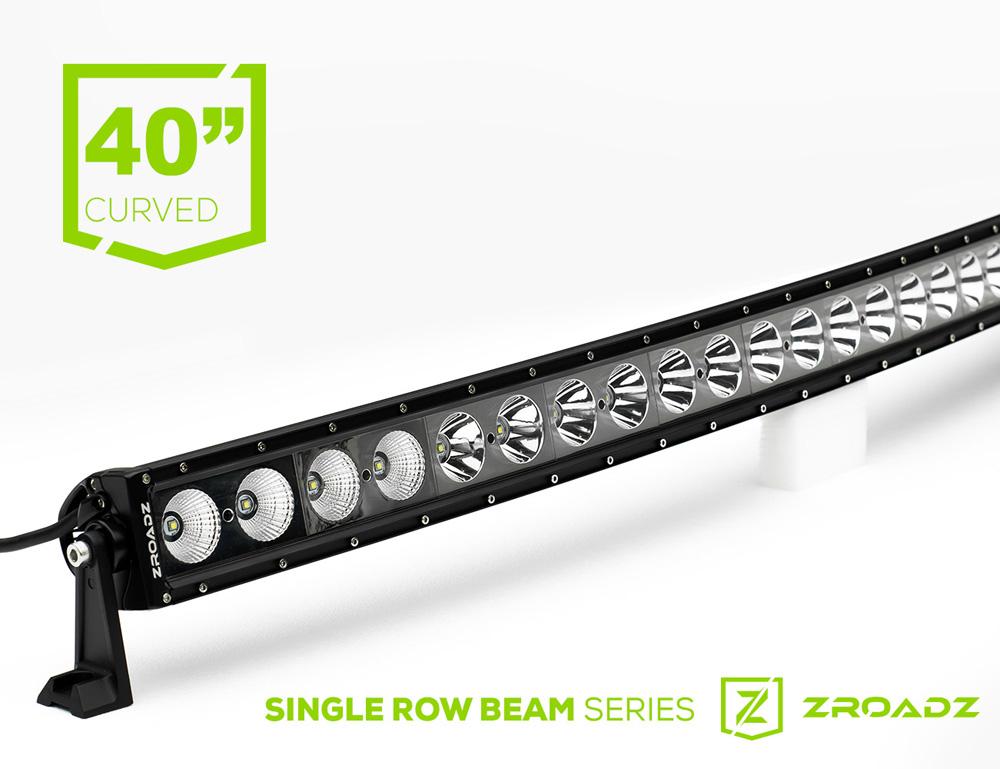 (1) 40 Inch LED Curved Single Row Light Bar PN Z30CBCS12W200
