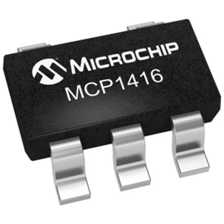 Microchip MCP1416T-E/OT Low Side MOSFET Power Driver, 1.5A 5-Pin, SOT-23 (5)