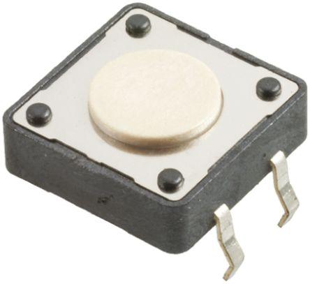 Wurth Elektronik White Button Tactile Switch, Single Pole Single Throw (SPST) 50 mA @ 12 V dc 0.8mm Surface Mount