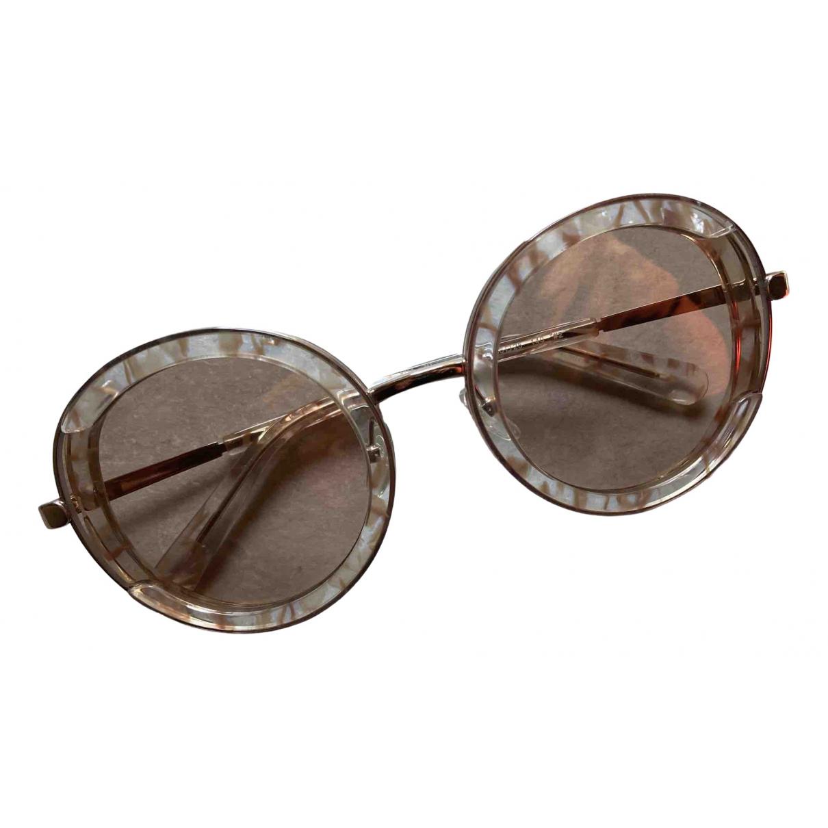 Salvatore Ferragamo \N Sonnenbrillen in  Rosa Kunststoff