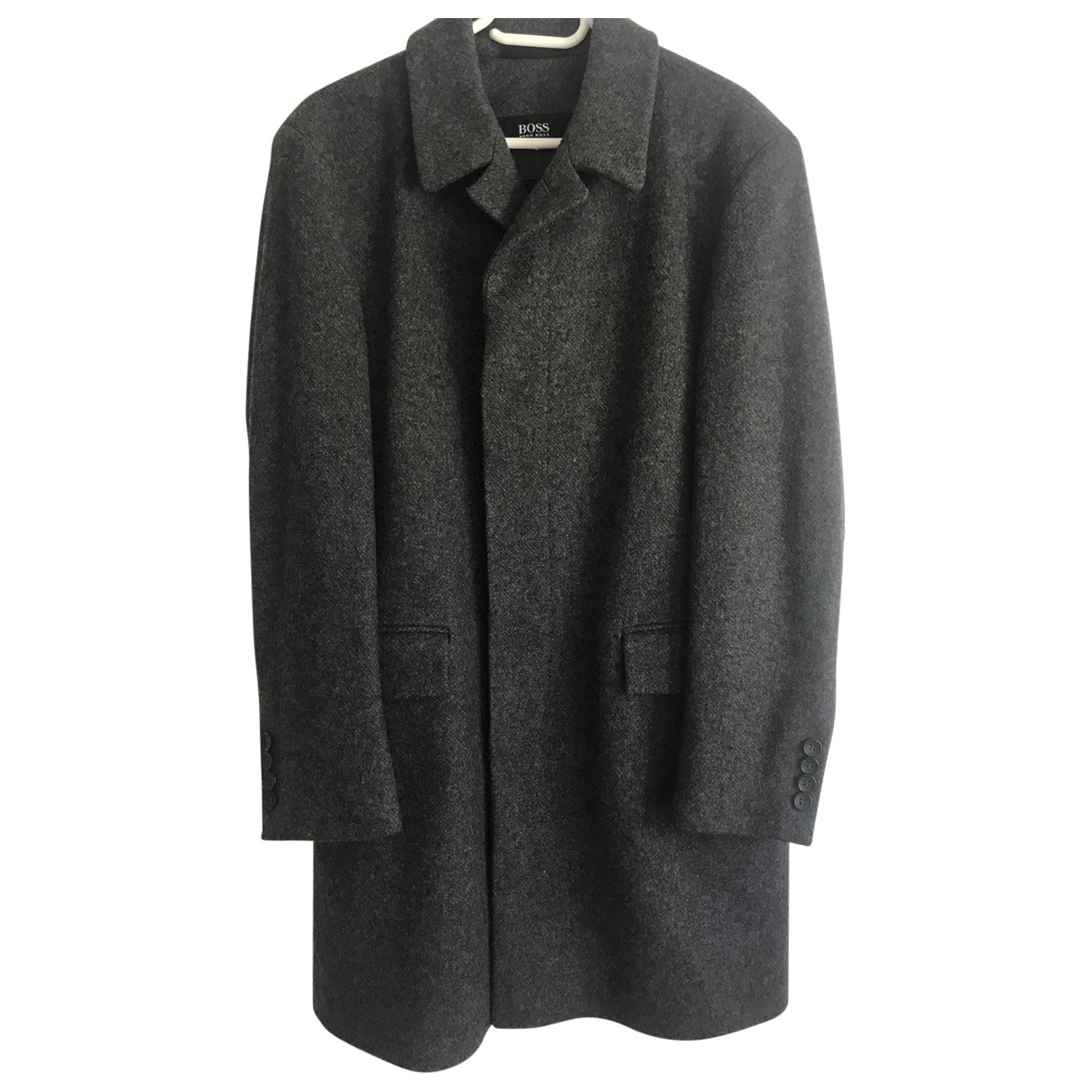 Boss \N Grey Wool coat  for Men 48 FR