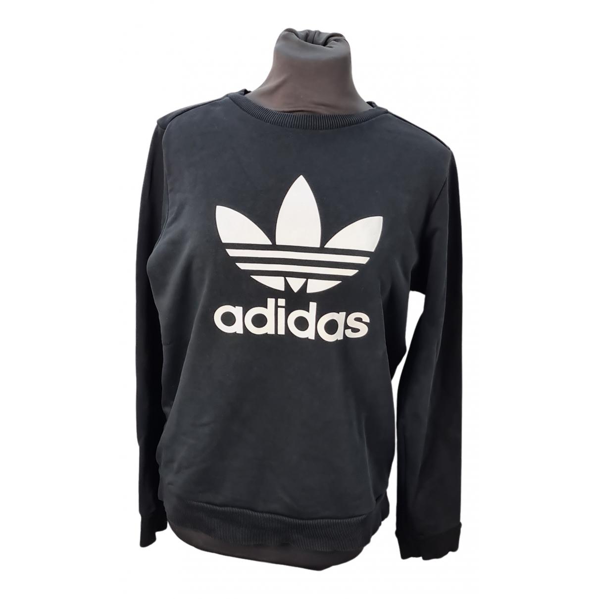 Adidas - Pull   pour femme en coton - noir