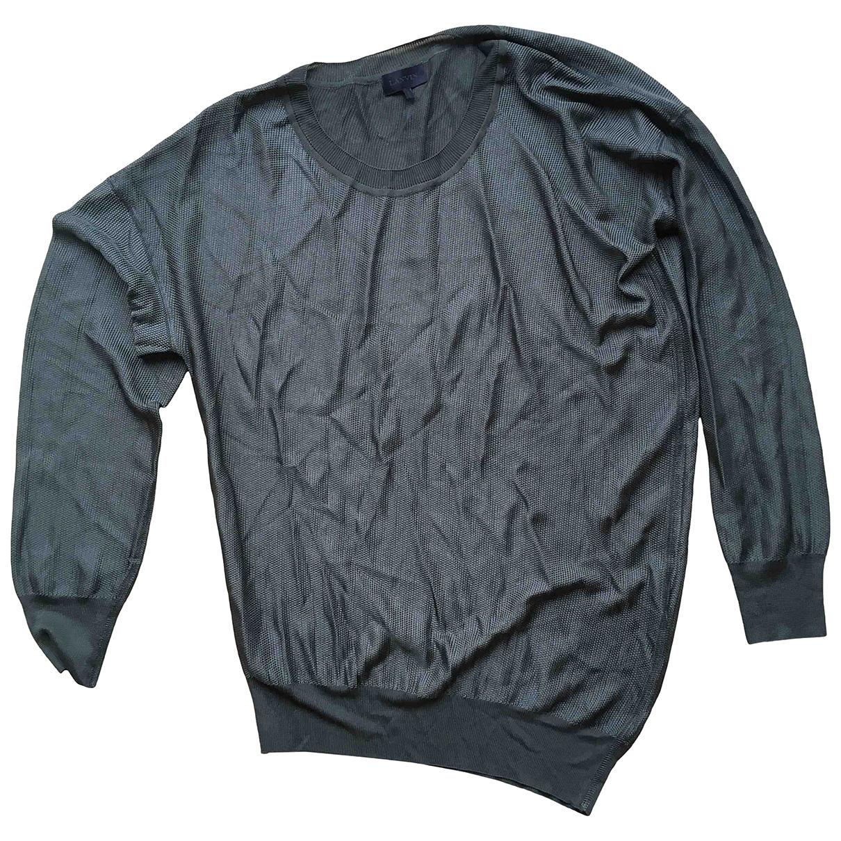 Lanvin \N Pullover.Westen.Sweatshirts  in  Anthrazit Viskose
