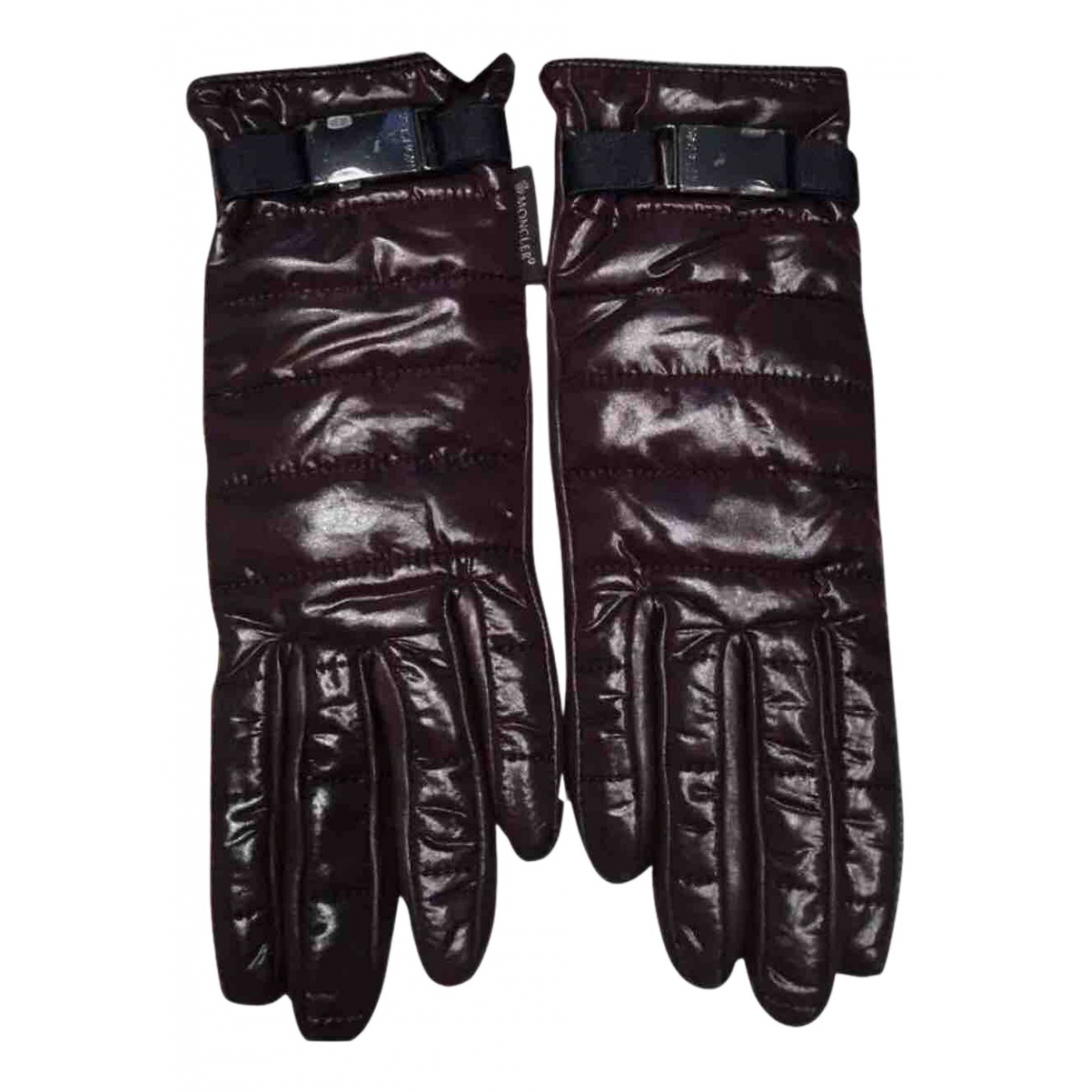 Moncler N Brown Leather Gloves for Women S International