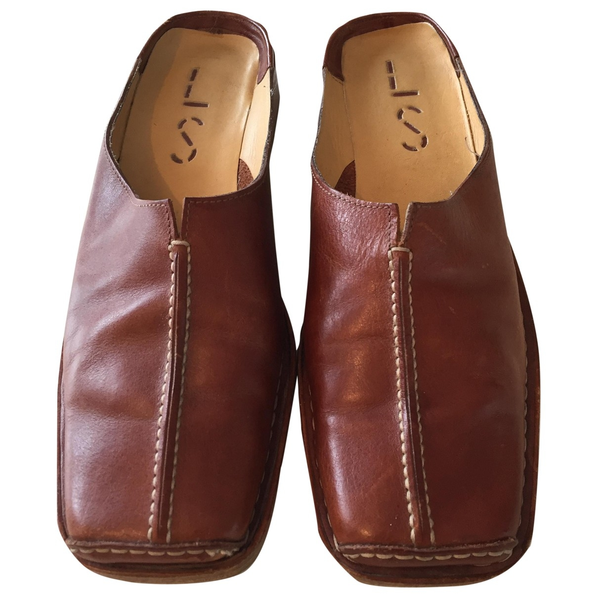 Non Signé / Unsigned \N Camel Leather Mules & Clogs for Women 37 EU
