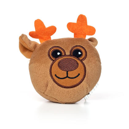 "Christmas Plush Character with Sound 4""x4"" 1Pc/Pack - Style 01"