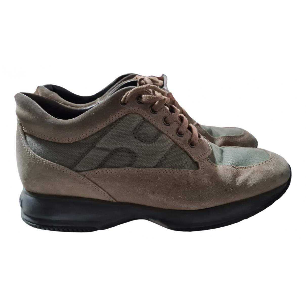 Hogan \N Sneakers in  Braun Veloursleder