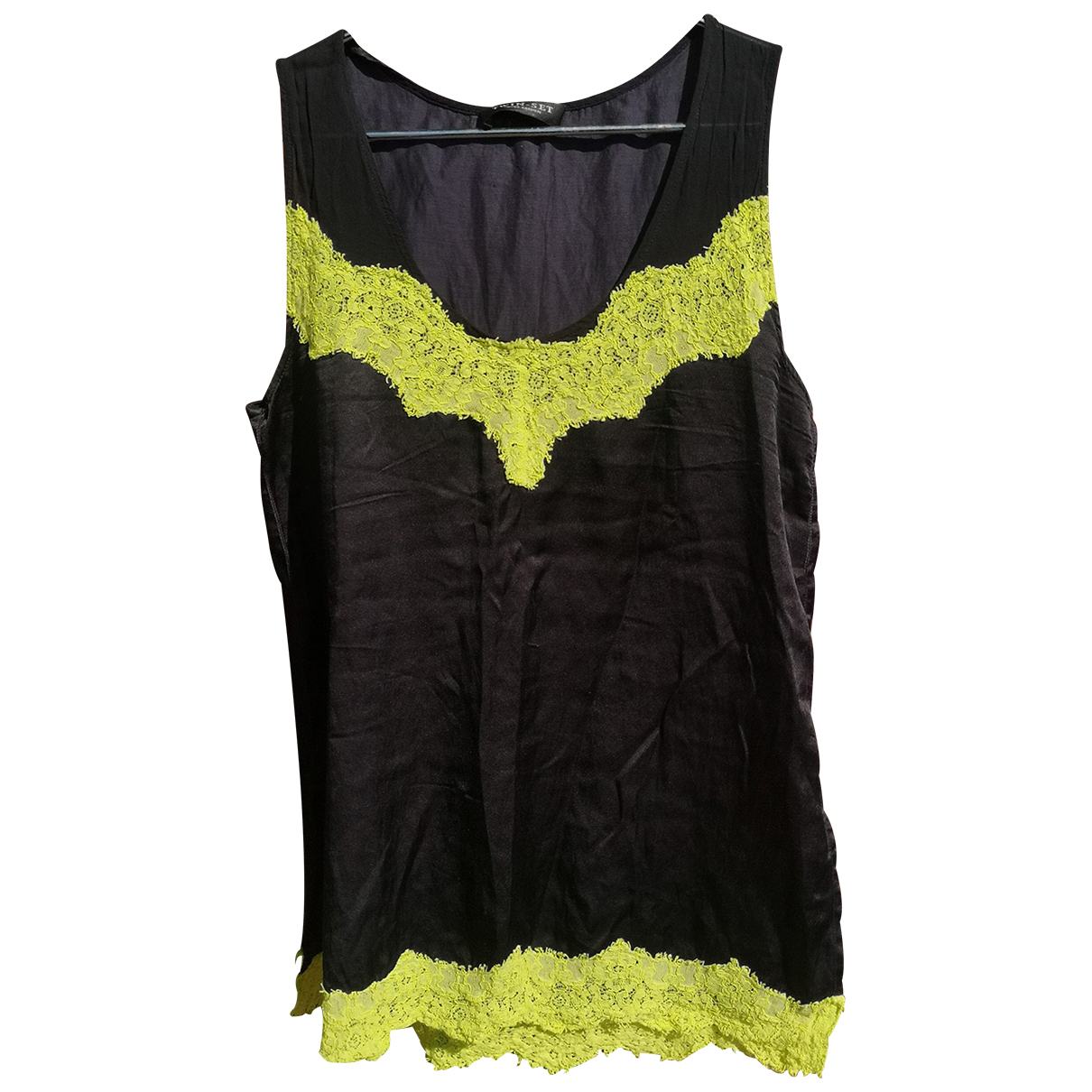 Twin Set N Black Silk  top for Women L International