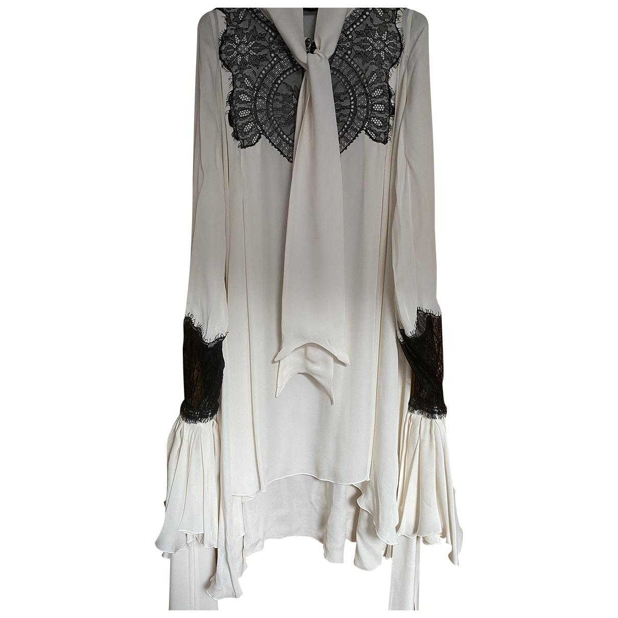 Francesco Scognamiglio \N Ecru Silk dress for Women 42 IT