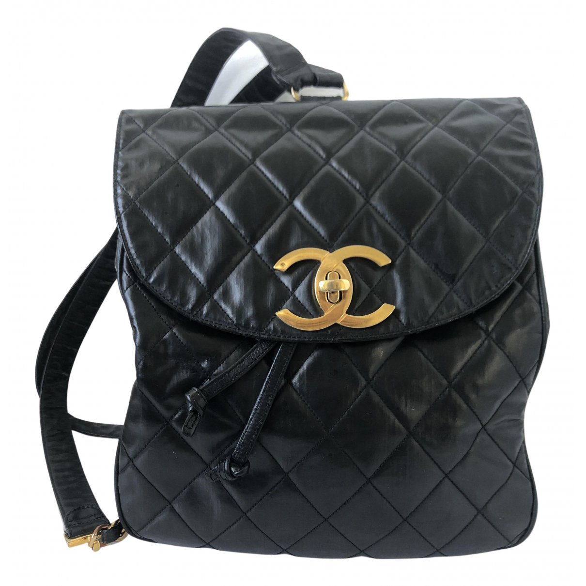 Chanel \N Black Leather backpack for Women \N