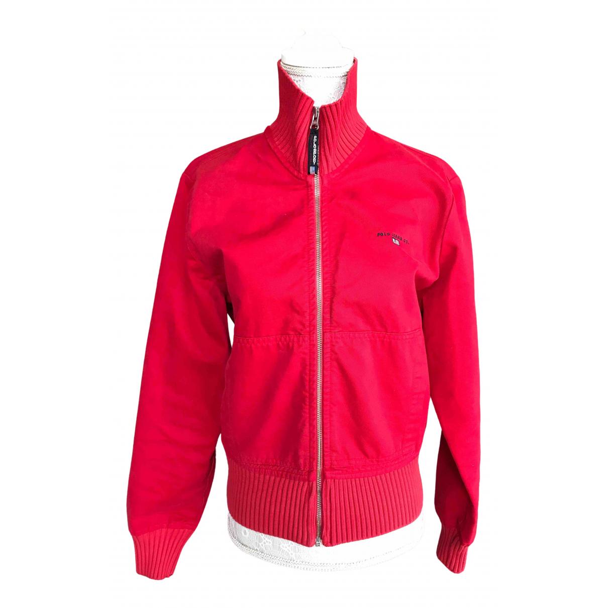 Polo Ralph Lauren - Veste   pour femme en coton - rouge