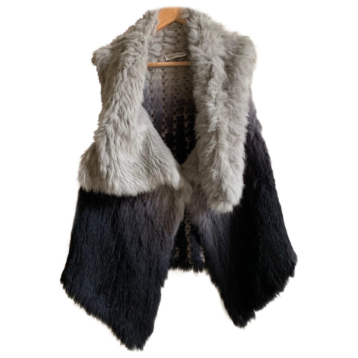 - Veste   pour femme en lapin - gris