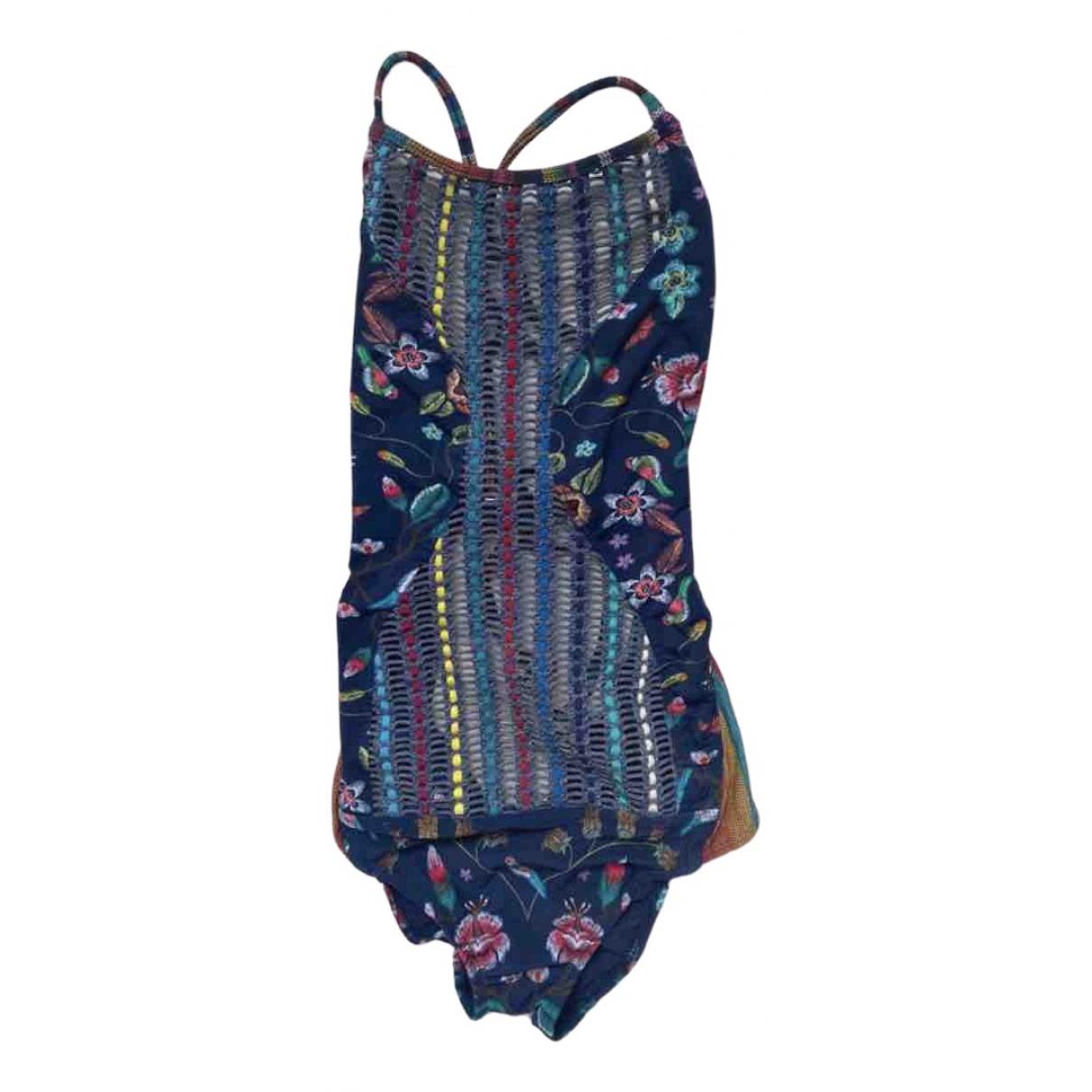 - Bain   pour femme en coton - elasthane - multicolore