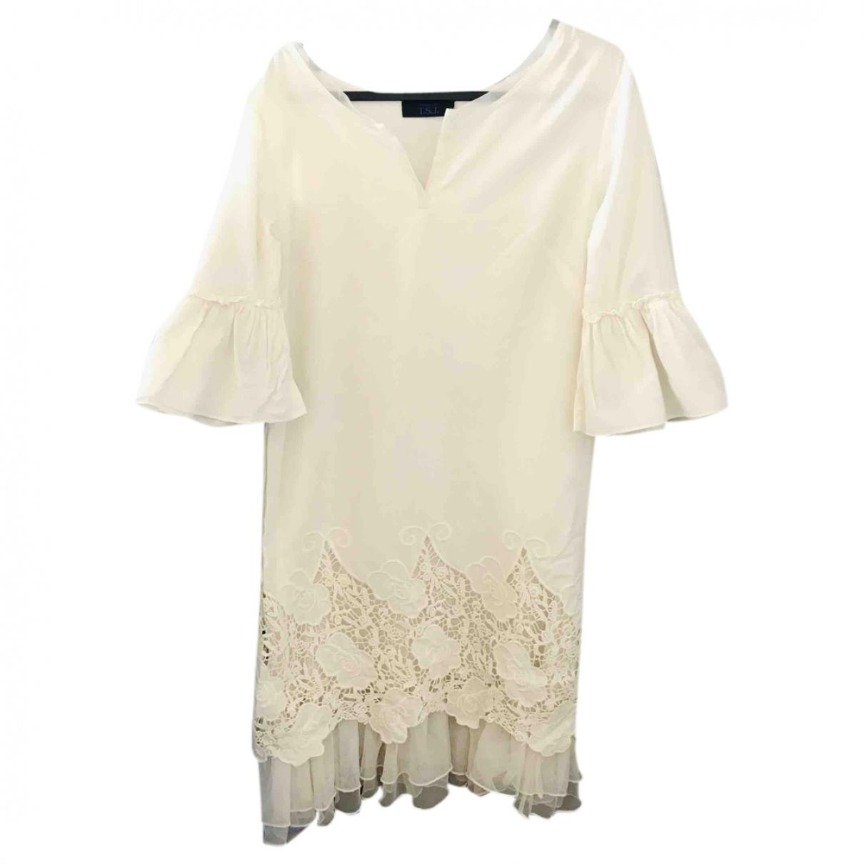 Twin Set N White Cotton dress for Women XS International