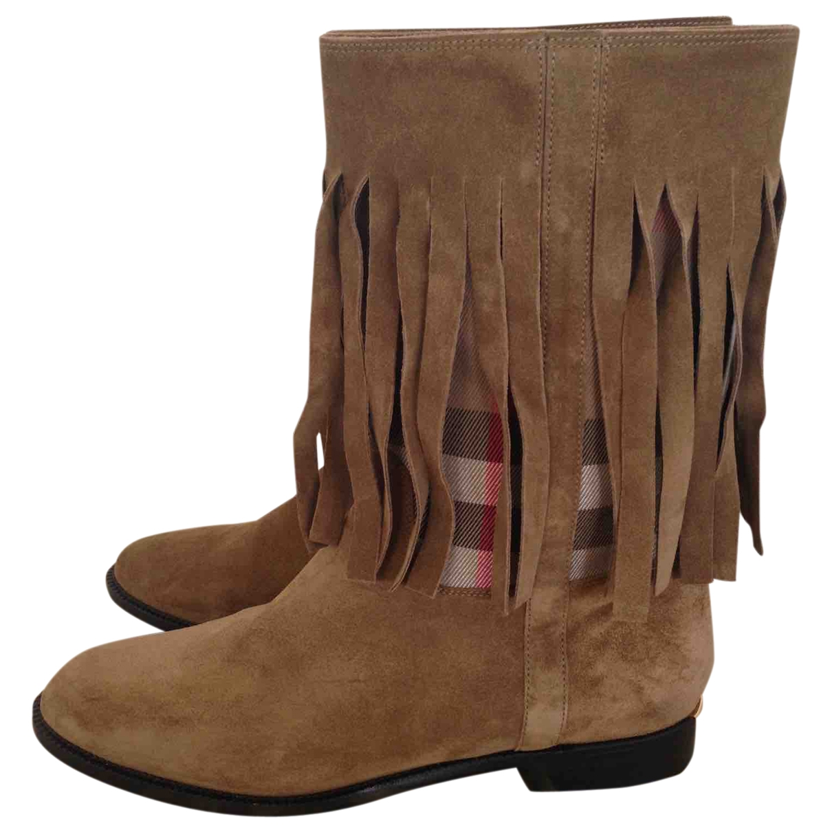Burberry \N Brown Suede Boots for Women 38 EU