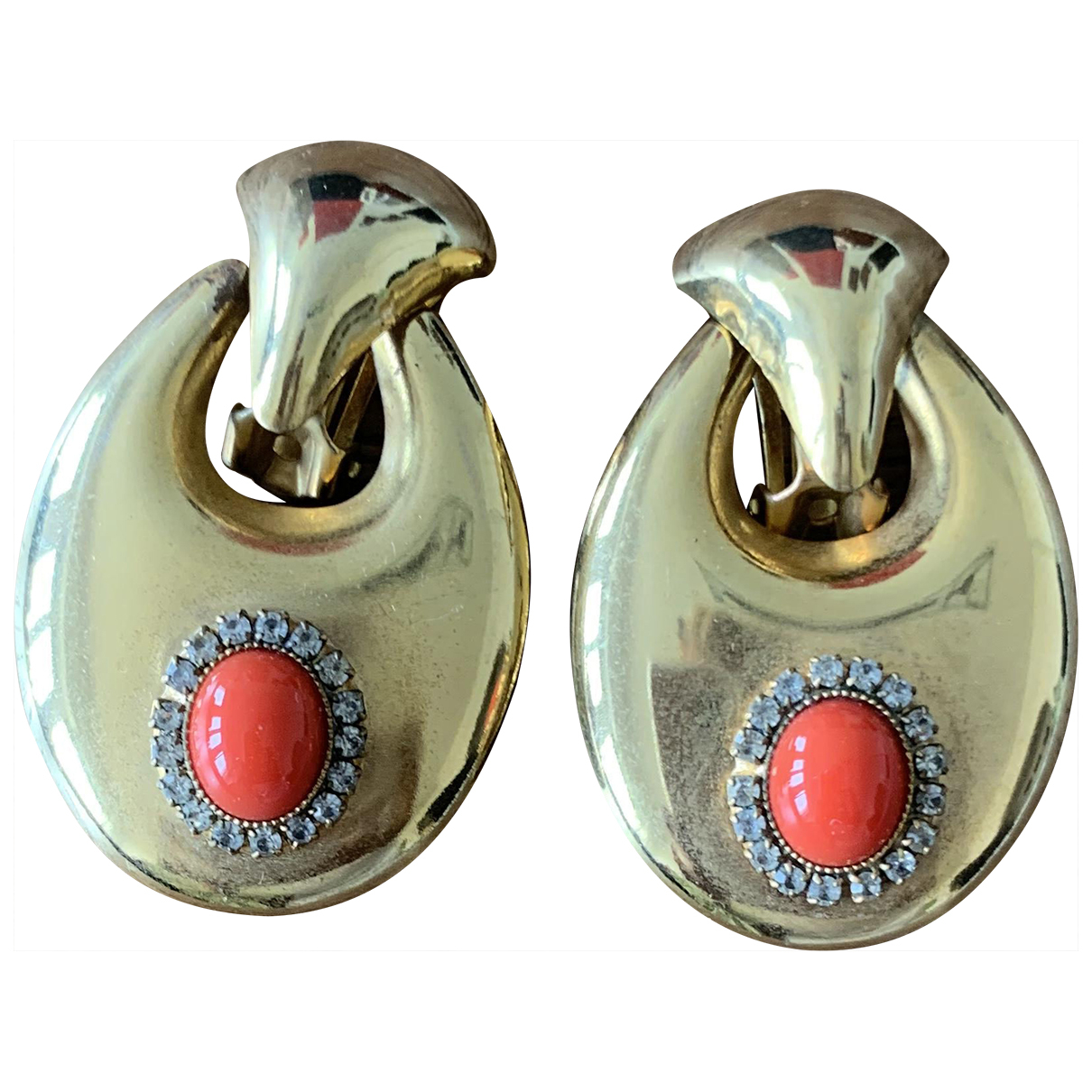 Non Signé / Unsigned \N Gold Silver Gilt Earrings for Women \N