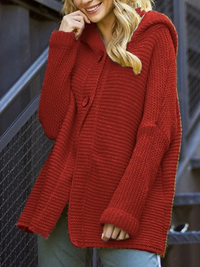 Ericdress Patchwork Regular Thin Hooded Loose Sweater