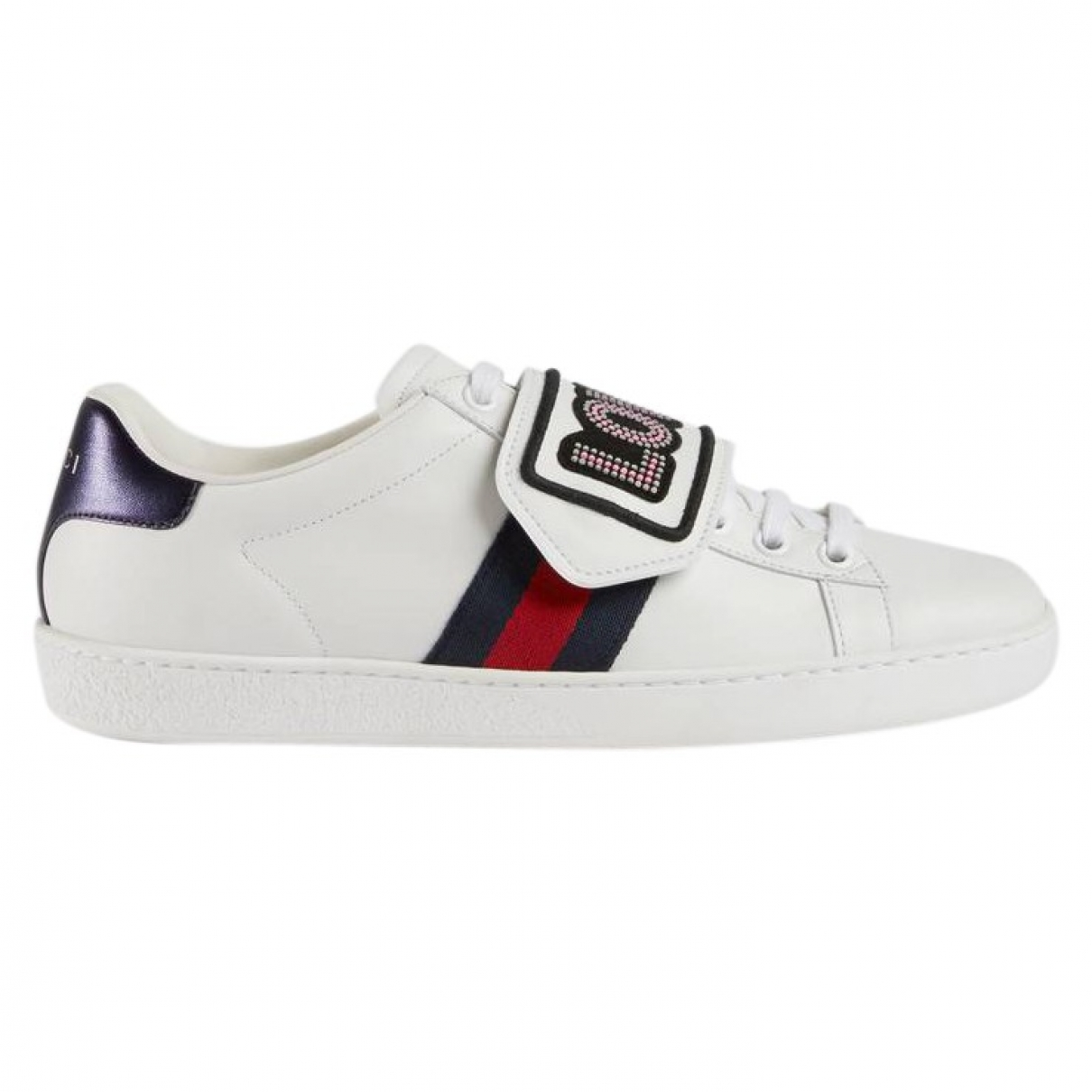Gucci Ace Sneakers in  Weiss Leder