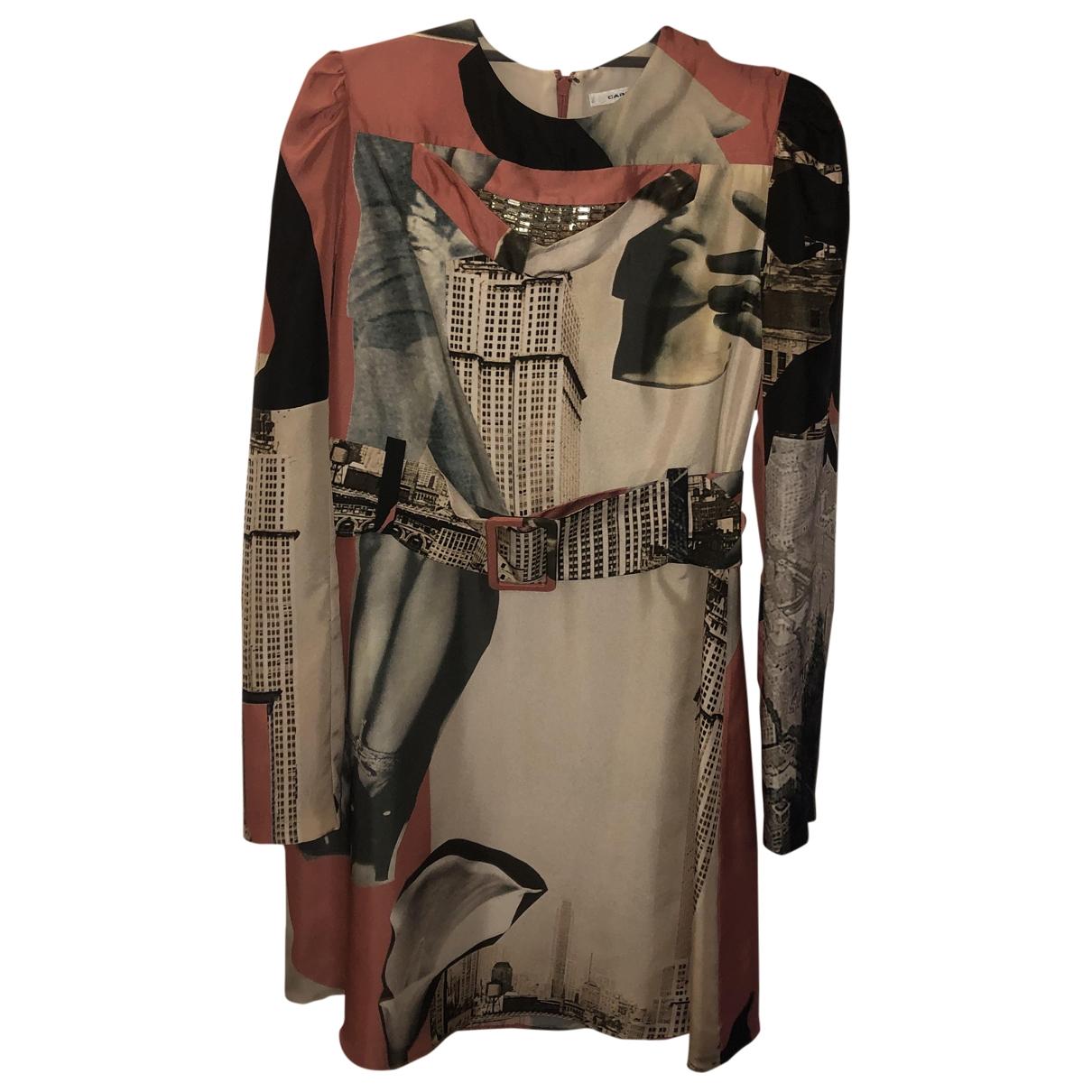 Carven \N Pink Silk dress for Women 36 FR