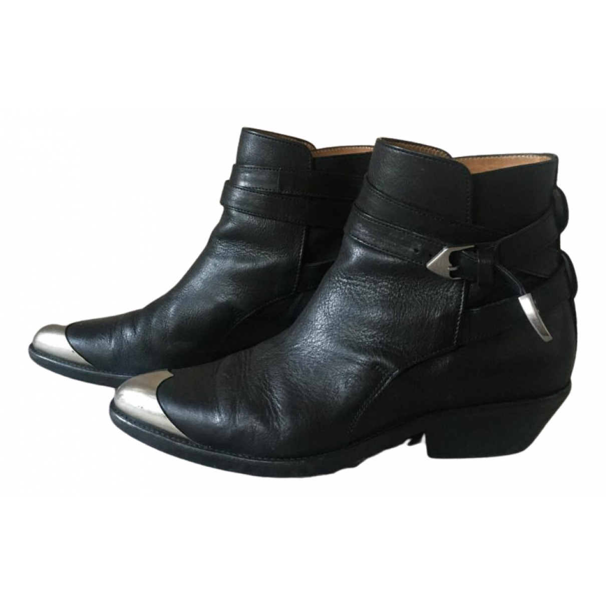 Isabel Marant N Black Leather Ankle boots for Women 39 EU