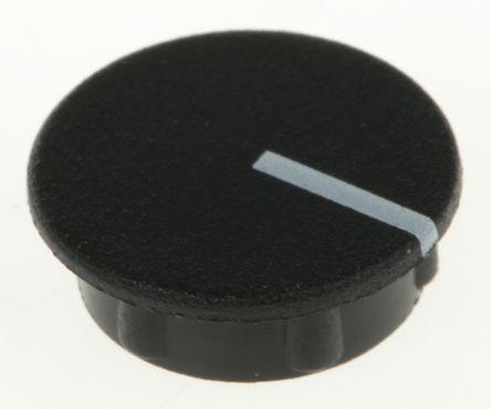 Sifam Potentiometer Knob Cap, 15mm Knob Diameter, Black, For Use With Collet Knob (10)