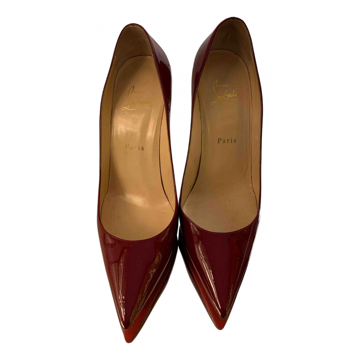 Christian Louboutin So Kate  Pumps in  Rot Lackleder