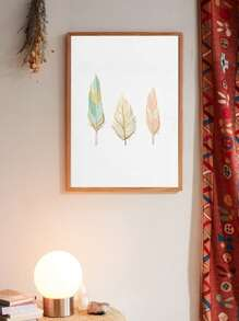 Feather Print Wall Print Without Frame