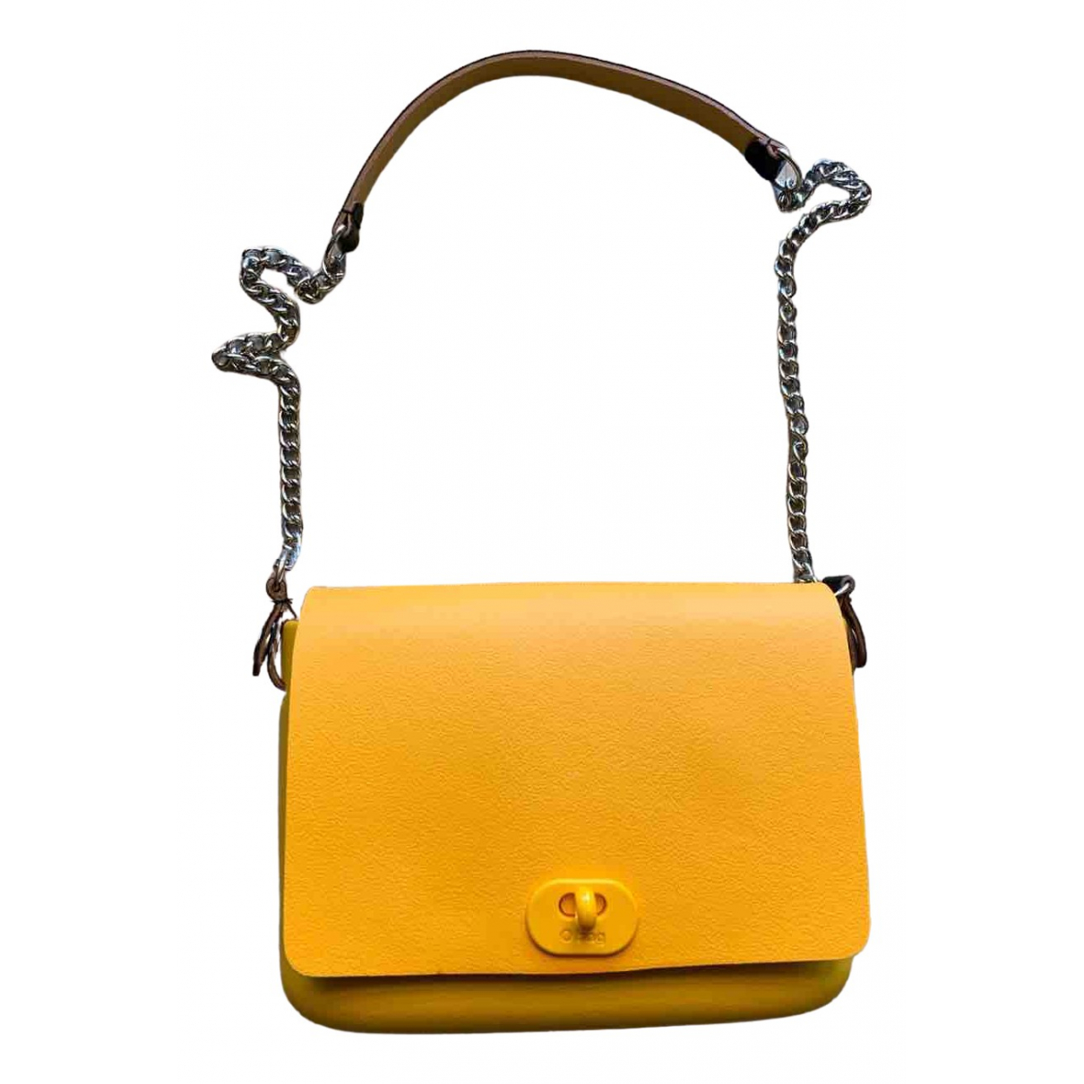 Non Signé / Unsigned \N Yellow handbag for Women \N
