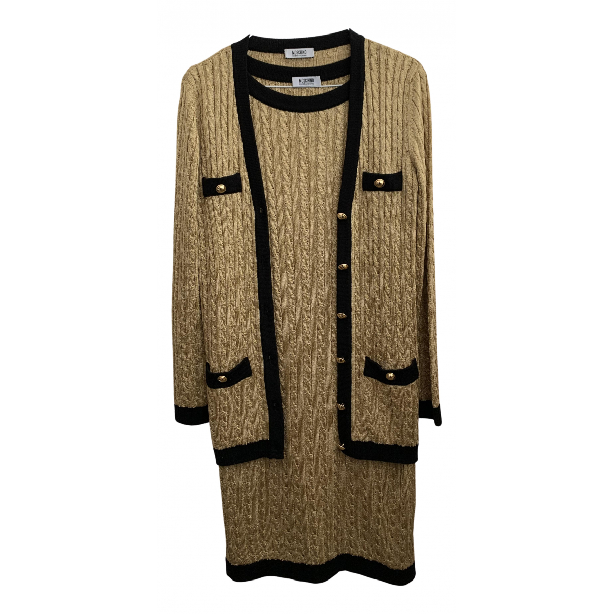 Moschino \N Kleid in  Gold Polyester