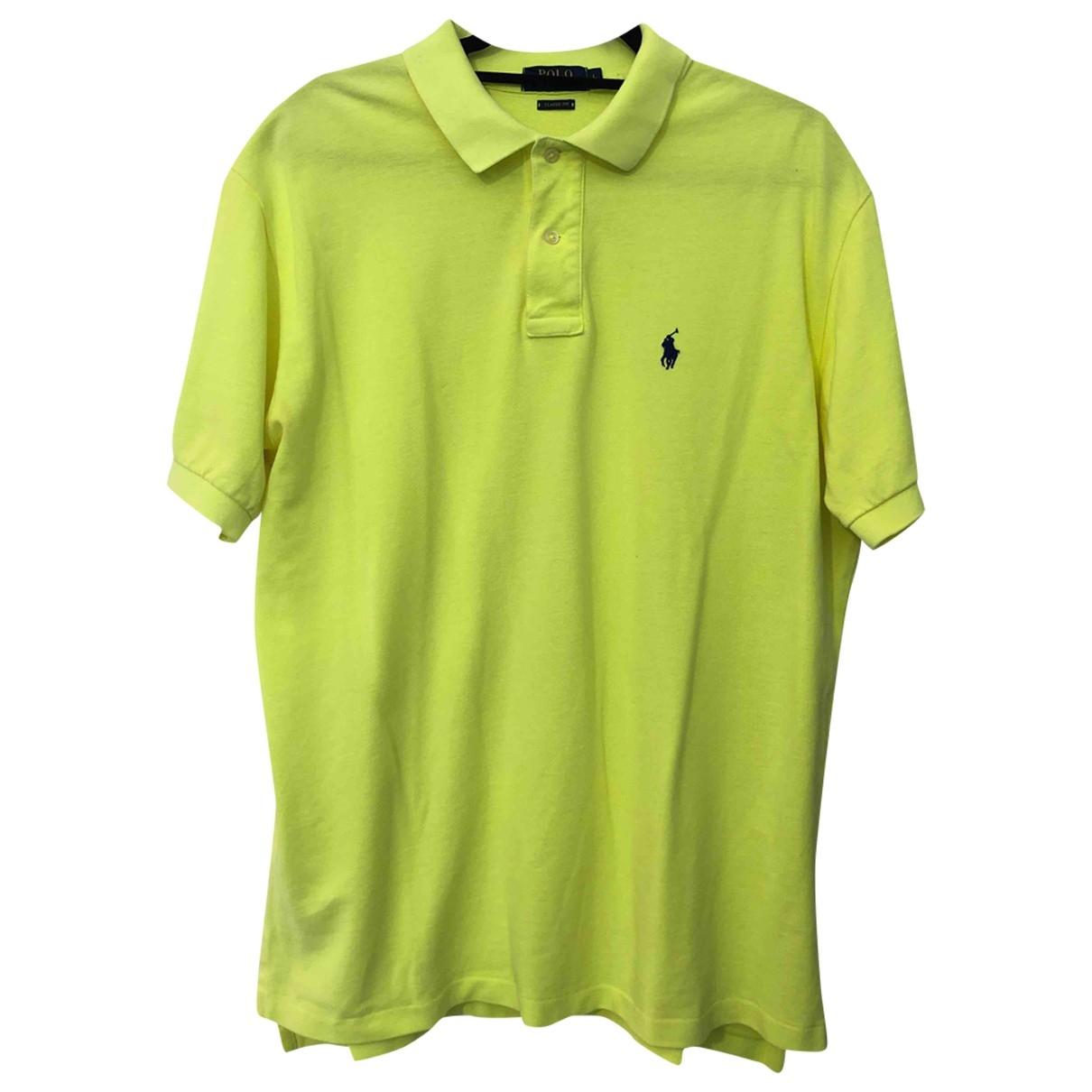 Polo Ralph Lauren - Polos Polo ajuste manches courtes pour homme en coton - jaune