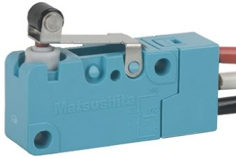 Panasonic SPDT Short Roller Lever Microswitch, 5 A @ 250 V ac