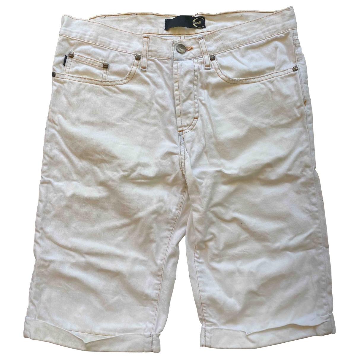 Just Cavalli \N Shorts in  Weiss Denim - Jeans