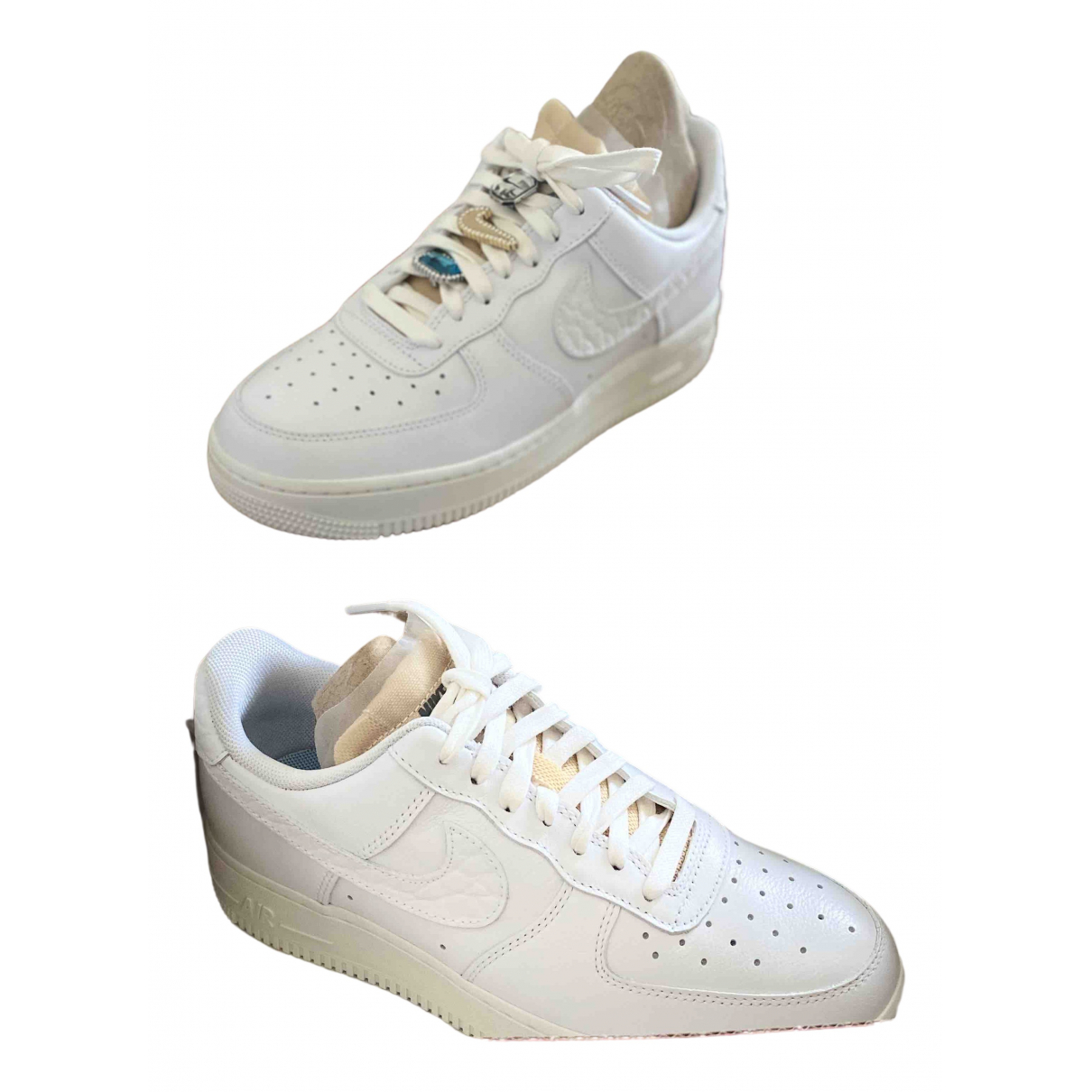 Nike Air Force 1 White Leather Trainers for Women 39 EU