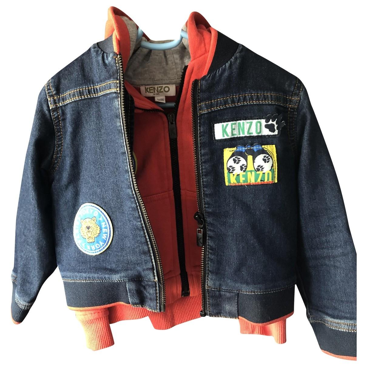 Kenzo \N Jacke, Maentel in  Blau Denim - Jeans