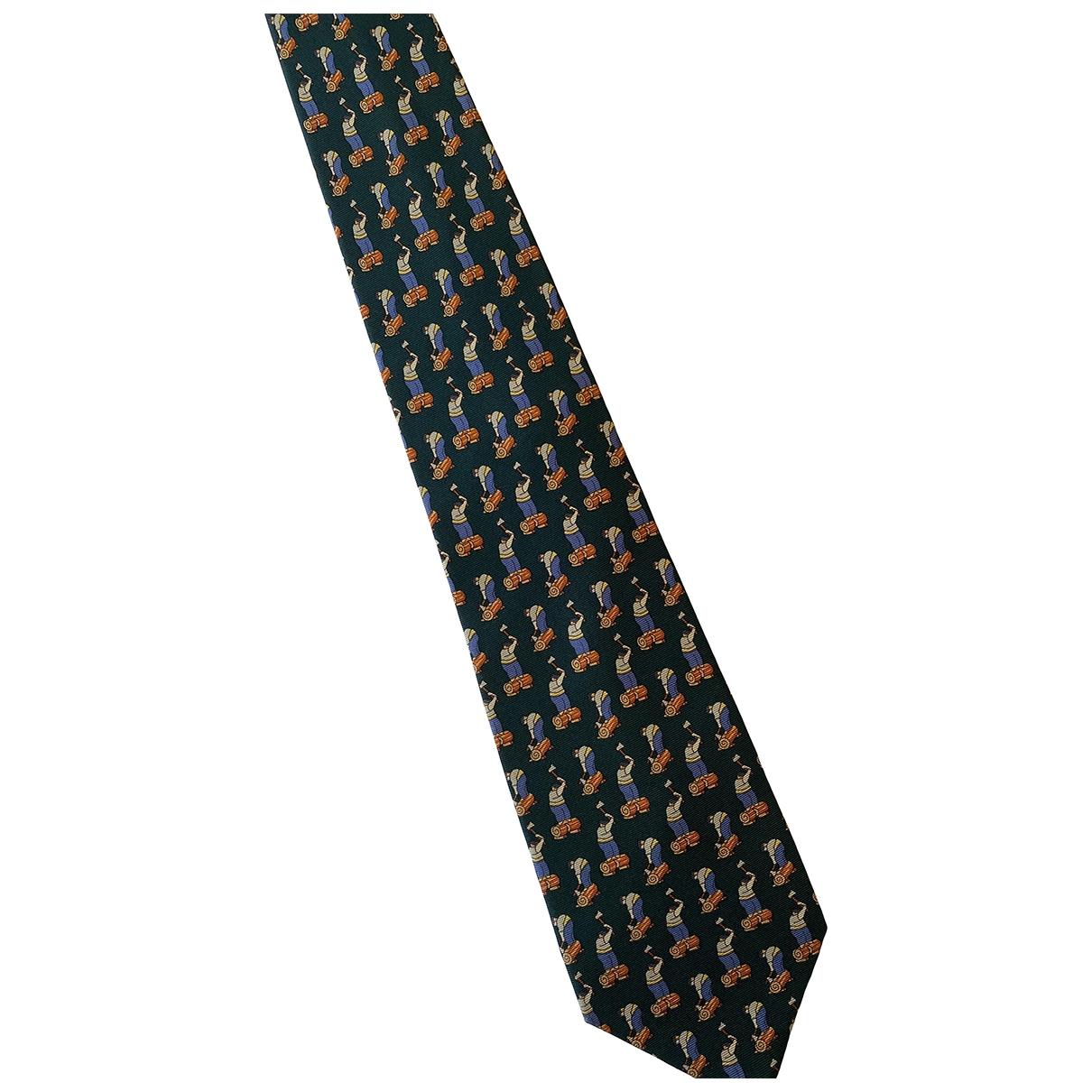 Loewe \N Krawatten in  Bordeauxrot Seide