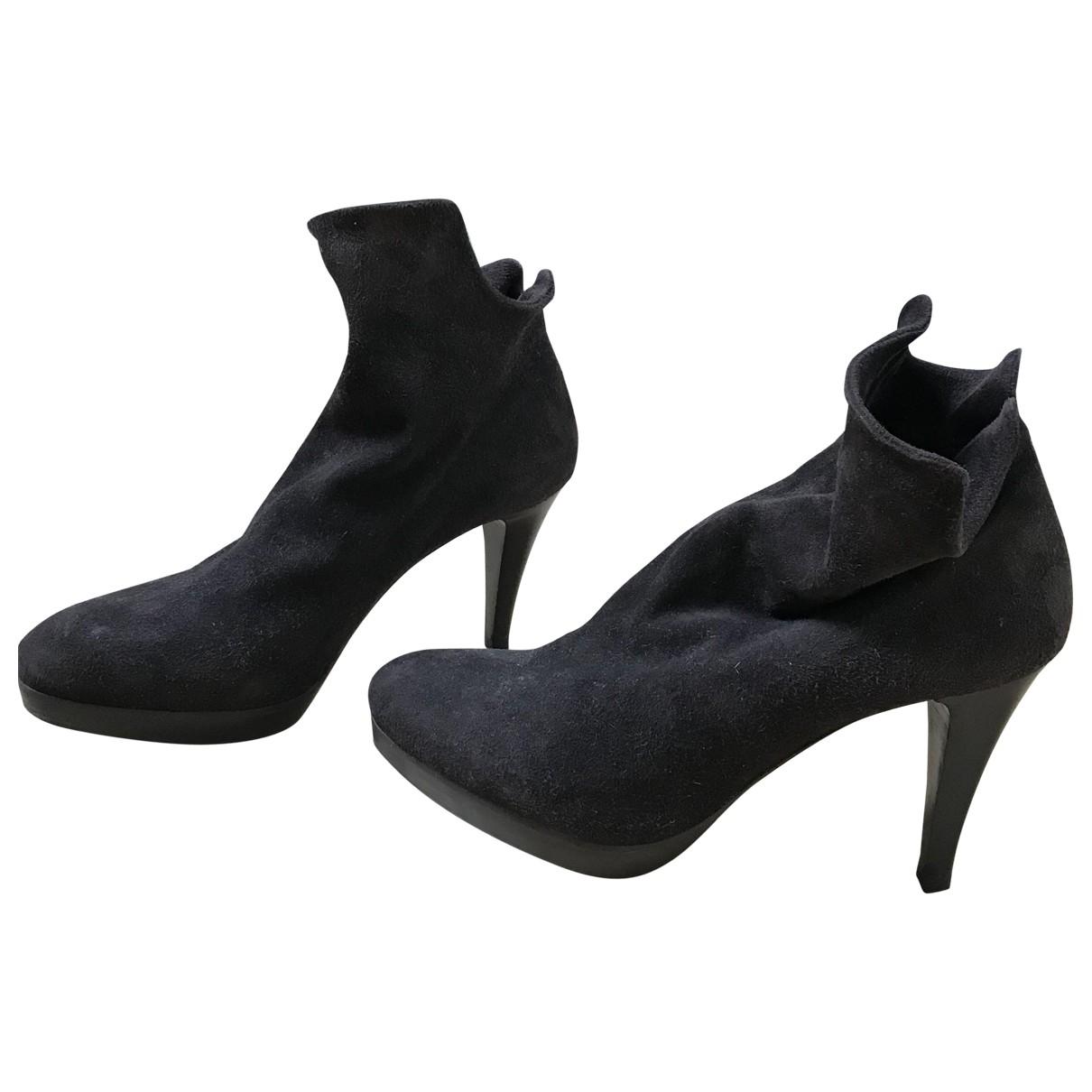 Carel - Boots   pour femme en suede - marron