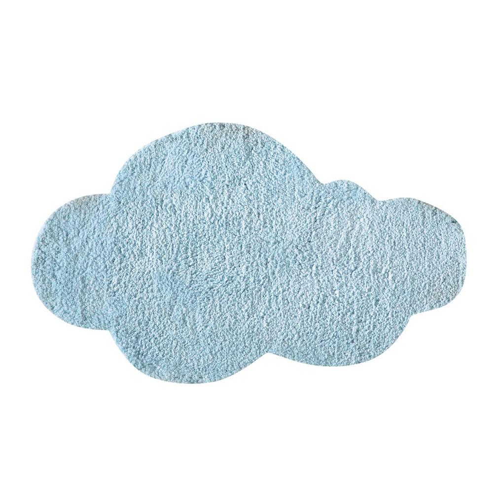 Ungebleichter getufteter Wolkenteppich, 60x100, blau