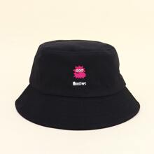 Kids Letter Embroidery Bucket Hat